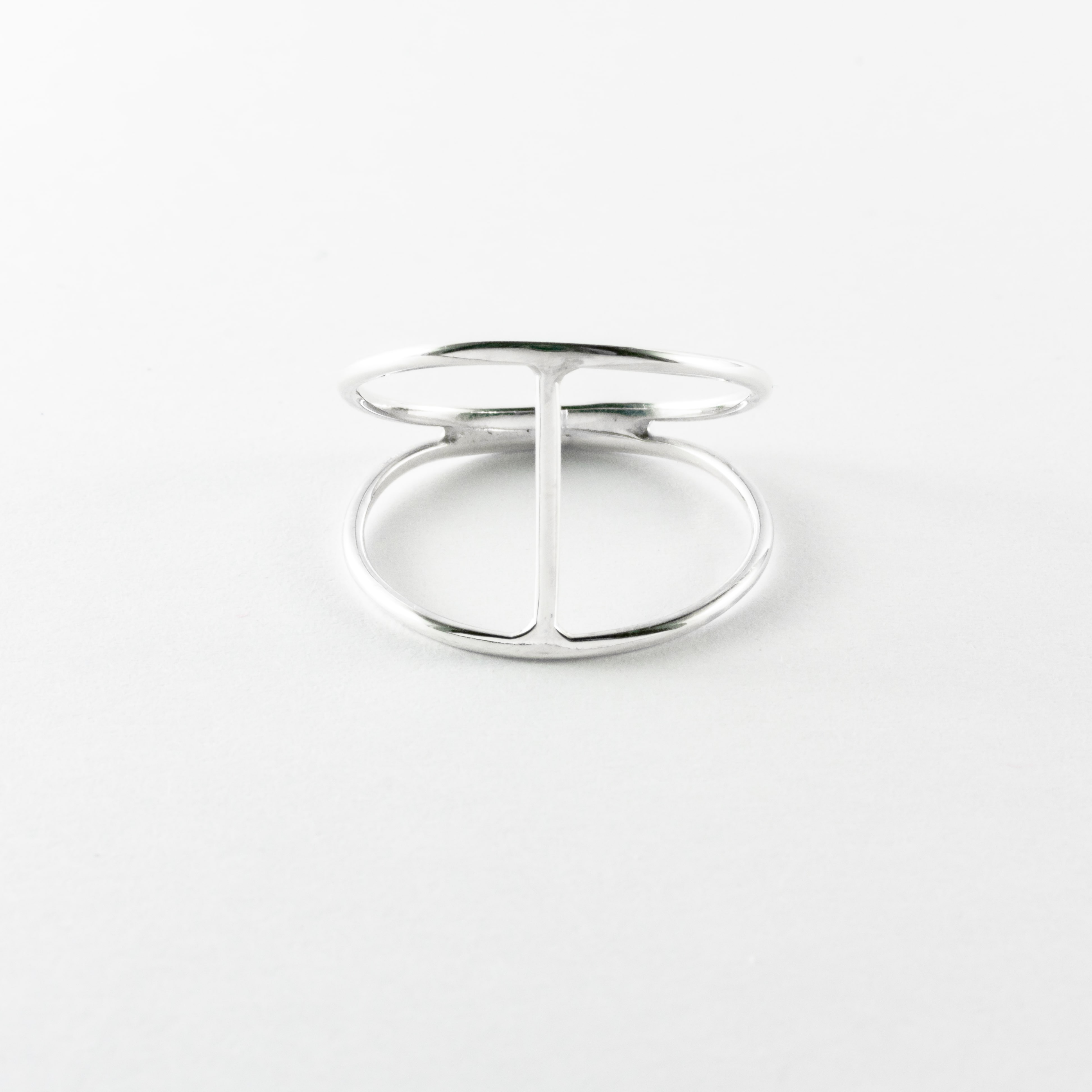 Mae Minimalist Style Ring Lystale Handmade Silver